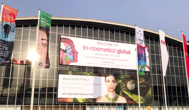Veletrh in-cosmetics Global Amsterdam 2018